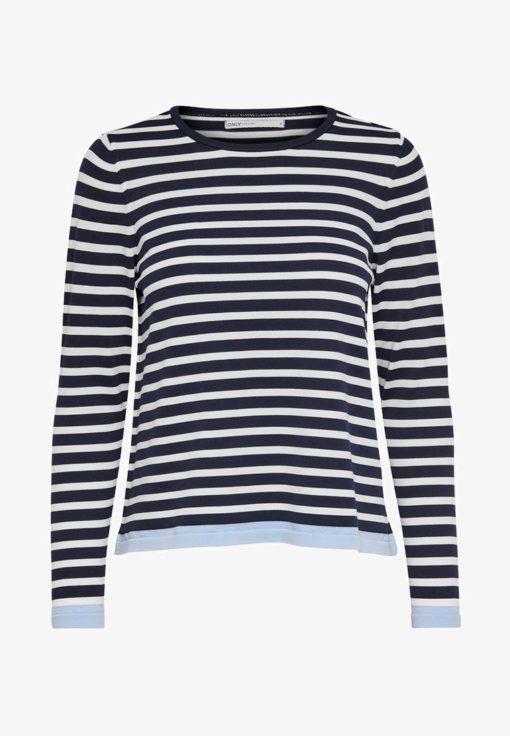 Camiseta-Only-Onlsuzana-L:S-Pullover-azul